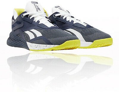 Reebok Mens CrossFit Nano X Training Gym Fitness Shoes Trainers Sneakers Navy