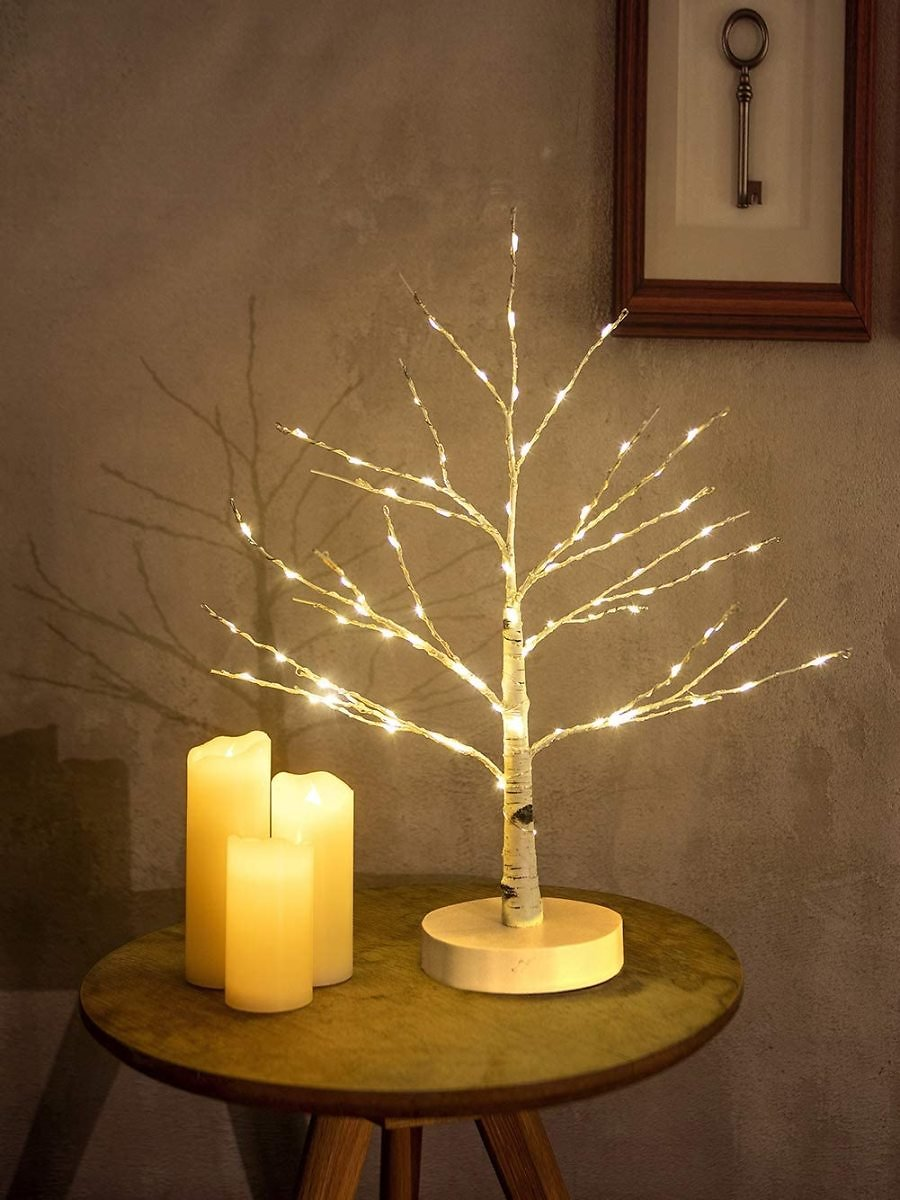 Hypestar Artificial Decorative Centerpiece | 24 Warm White LED Star USB Operated| Tabletop Decoration Light Tree | Christmas Easter Holiday Party Indoor Decor 18 Inches… (Star Lighted Tree)