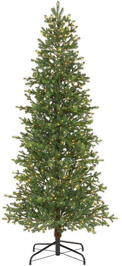 Home Decorators Collection 7 Ft Elegant Grand Fir Slim LED Pre-Lit Artificial Christmas Tree with Timer with 700 Warm White Lights-W14N0219
