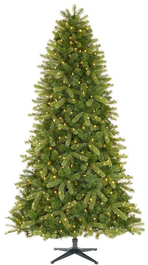 Home Accents Holiday 7.5 Ft Manchester White Spruce LED Pre-Lit Artificial Christmas Tree with 500 SureBright Color Changing Lights-TG76P2900D00