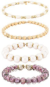 Vanessa Mooney Demi Bracelet Set in Gold | REVOLVE