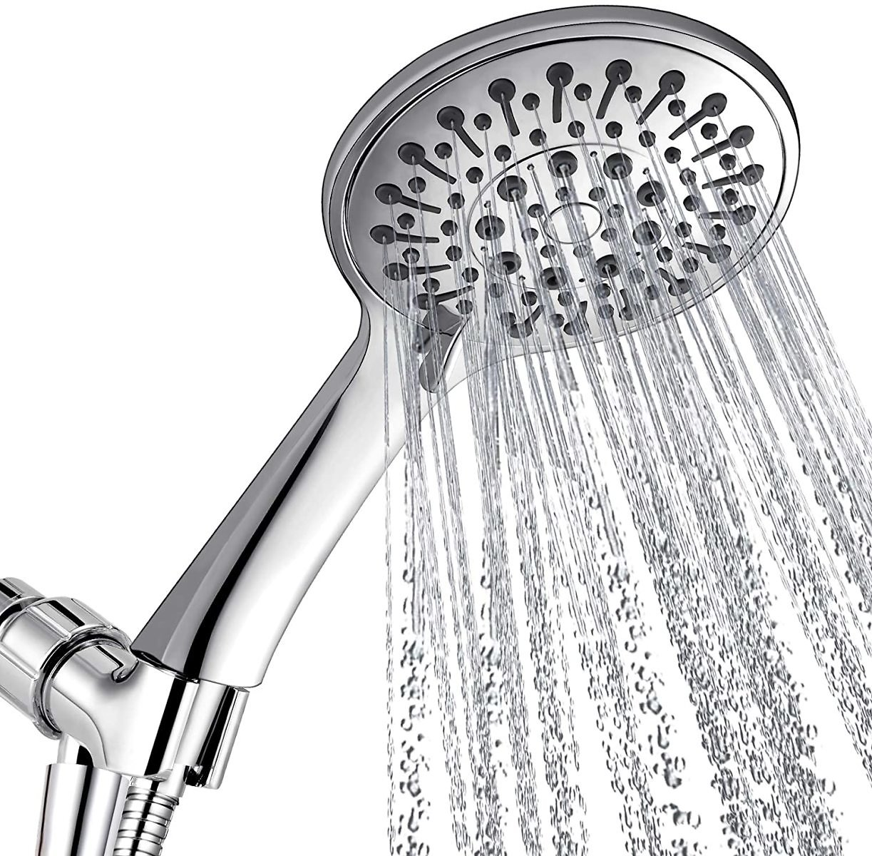 ANZA Shower Head With Handheld and 6 Spray Settings, 4.7