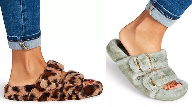 Steve Madden Women's Double-Band Footbed Slippers