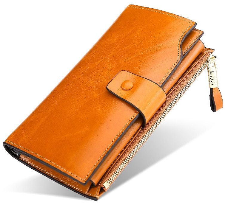 US $14.5 72% OFF KEVIN YUN Vintage Luxury Women Wallets Genuine Leather Long Zipper Clutch Purse Large Capacity Card Holder Wall