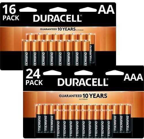 Free 16-24 Pack Duracell Batteries (AA & AAA)