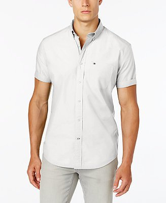 Tommy Hilfiger Men's Maxwell Short-Sleeve Button-Down Classic Fit Shirt, Created for Macy's & Reviews - Casual Button-Down Shirts - Men