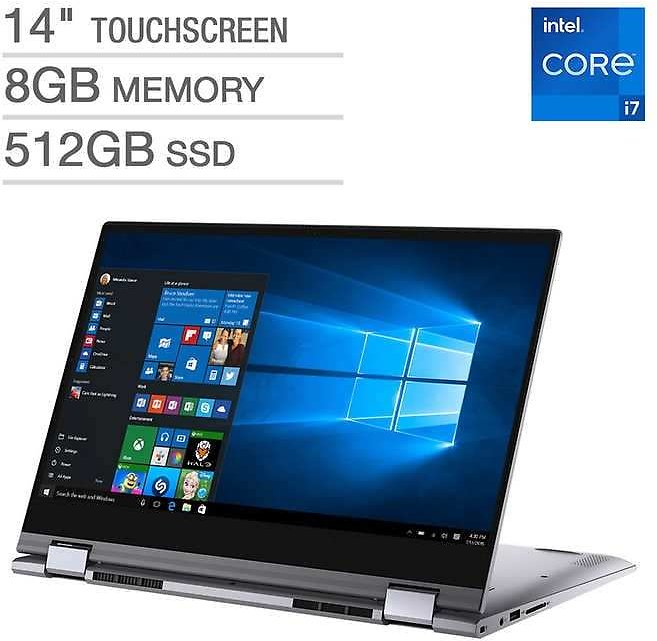 Dell Inspiron 14 5000 Series 2-in-1 Touchscreen Laptop - 11th Gen Intel Core I7-1165G7 - 1080p