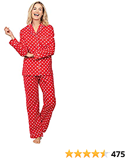 PajamaGram Flannel Pajamas Women Cozy - Boyfriend Pajamas for Women