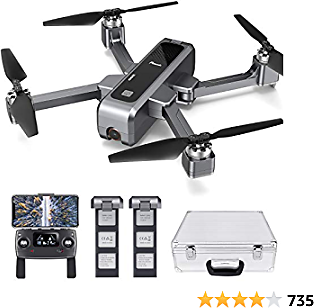 Potensic D88 Foldable Drone, 5G WiFi FPV Drone with 4K Camera, RC Quadcopter for Adults and Experts, GPS Return Home, Ultrasonic Altitude Setting, Optical Flow Positioning, 2 Battery 40min-Upgrade