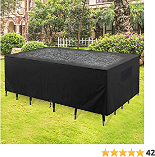 GARDRIT 2020 Upgraded Patio Furniture Covers, 100% Waterproof Rectangular Patio Table Cover, 90