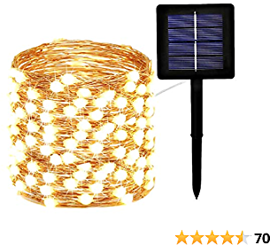 EXF Solar String Lights Outdoor, Upgraded Super Bright & Durable 120LED Solar Christmas Lights Outdoor, IP65 Waterproof Copper Wire 8 Modes Christmas Decorations Clearance