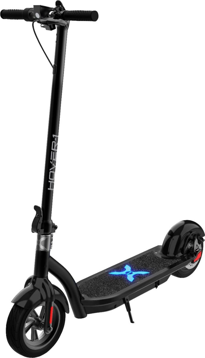 Hover-1 Alpha Foldable Electric Scooter W/12 Mi Max Operating Range & 17.4 Mph Max Speed Black H1-ALPHA-BLK