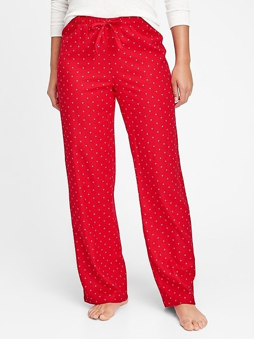 Flannel Pajama Pants Red