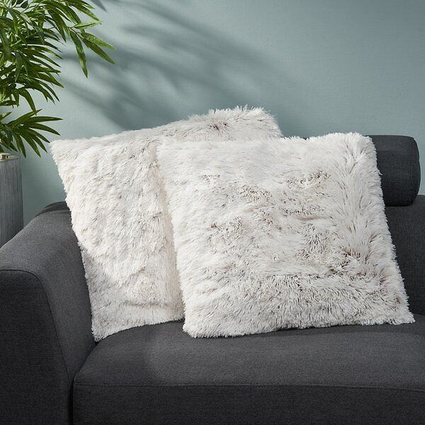 Genthner Square Faux Fur Pillow Cover & Insert