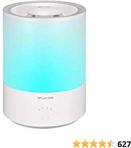 ROADTEC Top Fill Humidifiers for Home, 4L/1.06 Gal Quiet Ultrasonic Cool Mist Humidifier for Bedroom Baby Room Large Room with Adjustable Mist Up to 40 Hours, Auto Shut Off, Essential Oil Compatible(Blue)…