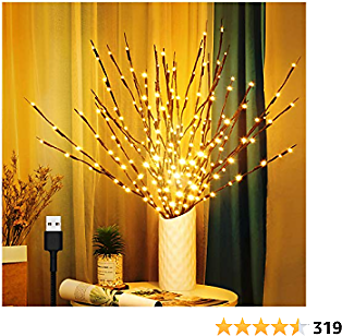 Twig Lights, 3 Pack USB Plug in 60 LED Bulbs Branches Lights for Christmas Decoration and Theme Party