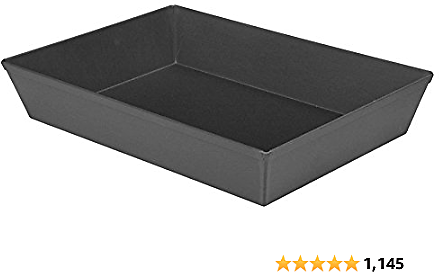 LloydPans Kitchenware 10 By 14 Inch Detroit Style Pizza Pan USA Made Hard-Anodized