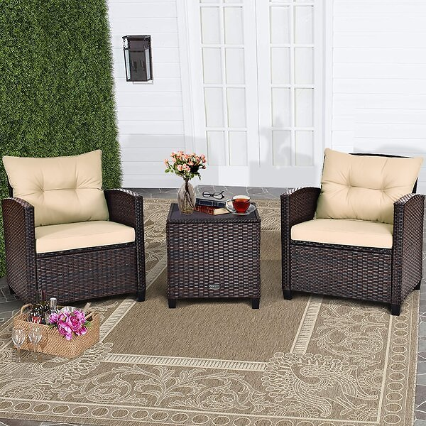 3 Piece Seating Group with Cushions