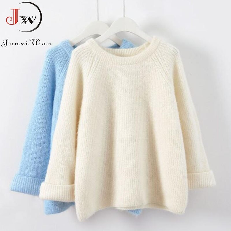 US $10.77 41% OFF New 2020 Autumn Women Knitted Sweaters Jumpers Candy Color Sweet Chic Short Sweater Casual Solid Pull Femme Roupas Femininas Pullovers  - AliExpress