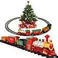 Lucky Doug Christmas Train Toys Set Around Tree for Kids, Electric Train Set with Light & Sounds Include 4 Cars and 10 Tracks, Christmas Trains Sets Gift for 2 3 4 5 6 Years Old Boys Girls Toddlers: Toys & Games