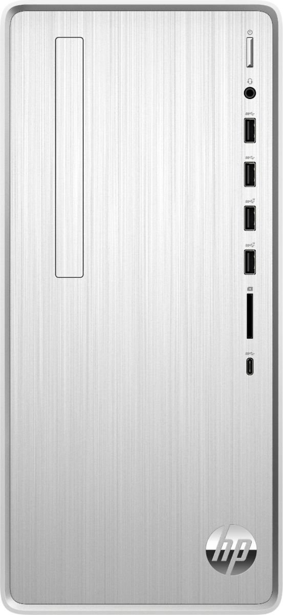 HP - Pavilion Desktop - Intel Core i3 - 8GB Memory - 256GB SSD - Natural Silver