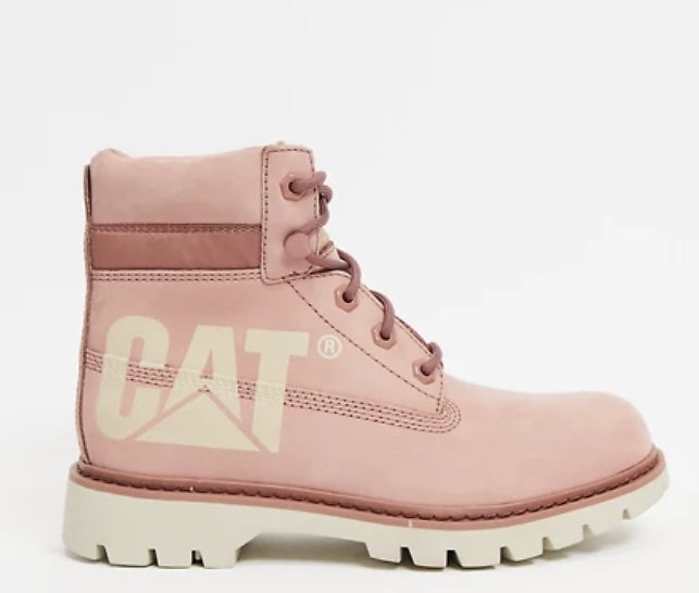 Caterpillar Lyric Bold Leather Boots in Pink | ASOS