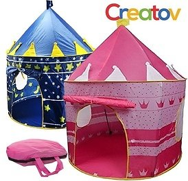 Kids Tent Toy Princess, Prince - Playhouse with Carry Case