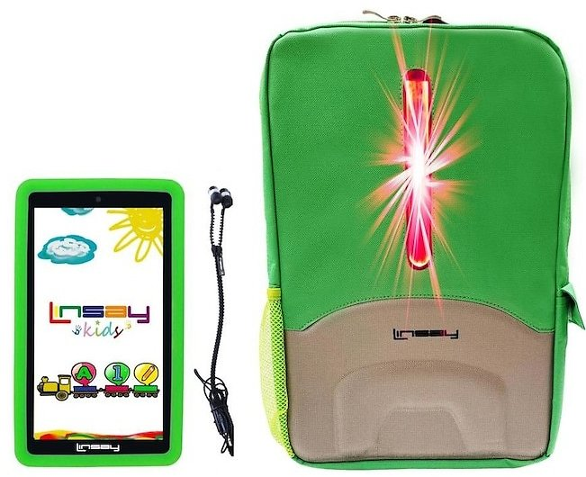LINSAY 7-in Wi-fi Only Android 10 Tablet with Accessories; Case; Type Cover Included
