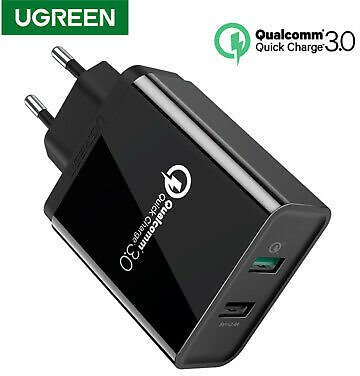 Ugreen USB Wall Charger QC 3.0 2.0 Fast Charger Adapter For IPhone X Samsung S10