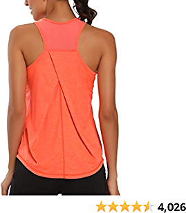 Aeuui Workout Tops for Women Mesh Racerback Tank Yoga Shirts Gym Clothes 2020