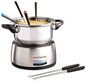 Nostalgia 6-Cup Stainless Steel Fondue Pot