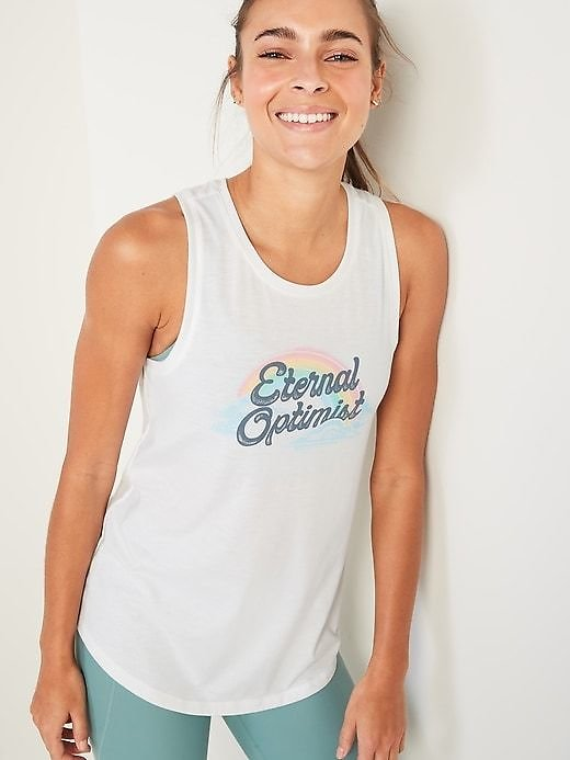 Graphic Muscle Tank Top for Womens