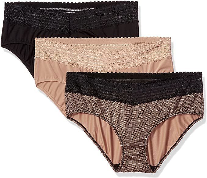3 Pack Hipster Panties Warner's Women's Blissful Benefits No Muffin Top