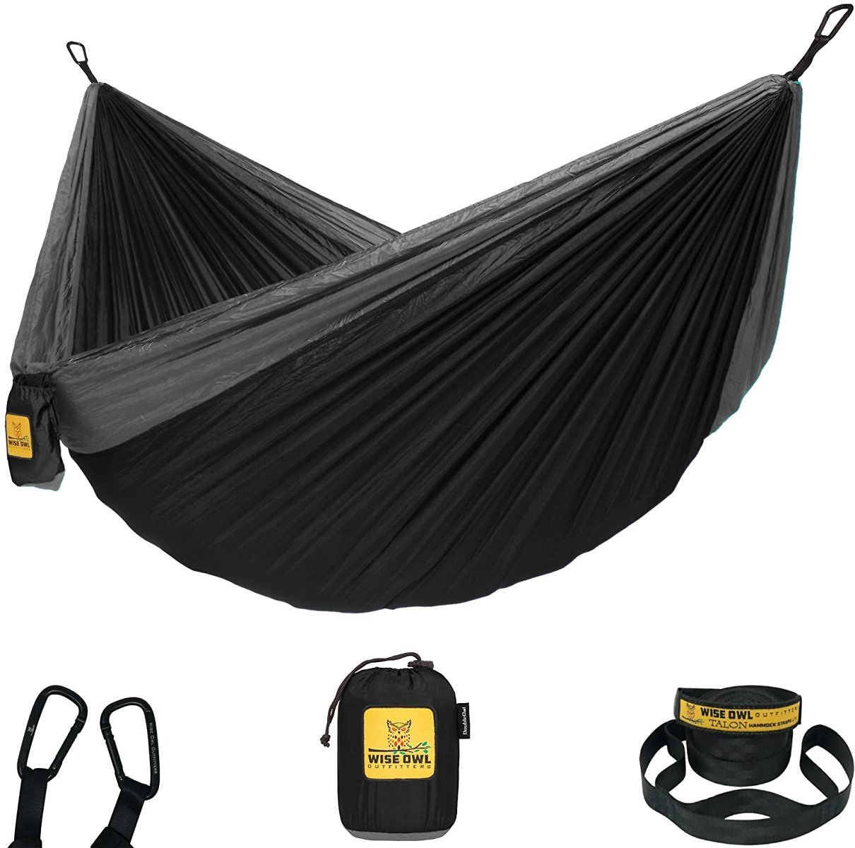 Wise Owl Hammock Camping Single with Tree Straps