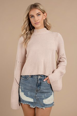 Handle With Flare Rose Sweater