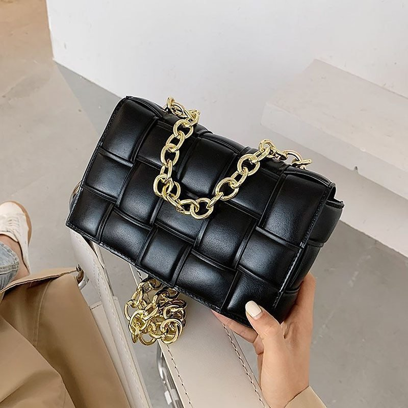 US $19.08 50% OFF|Weave Chain Small Crossbody Bags for Women 2021 Luxury Quality Pu Leather Shoulder Bag Female Trend Design Handbags and Purse|Shoulder Bags| - AliExpress