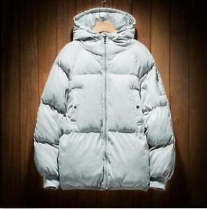 Casual Japanese Men's Cotton Hooded Jacket Coat Winter Loose Padded Clothing BT0
