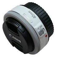 [Canon] EF 40mm F/2.8 STM Pancake Lens (Bulk Package) - White
