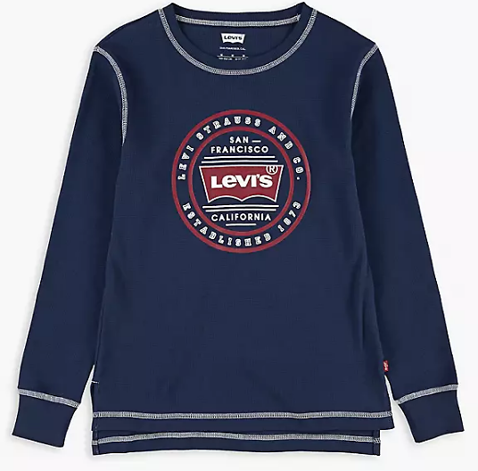 Little Boys (4-7) Circle Graphic Thermal - Blue | Levi's® US