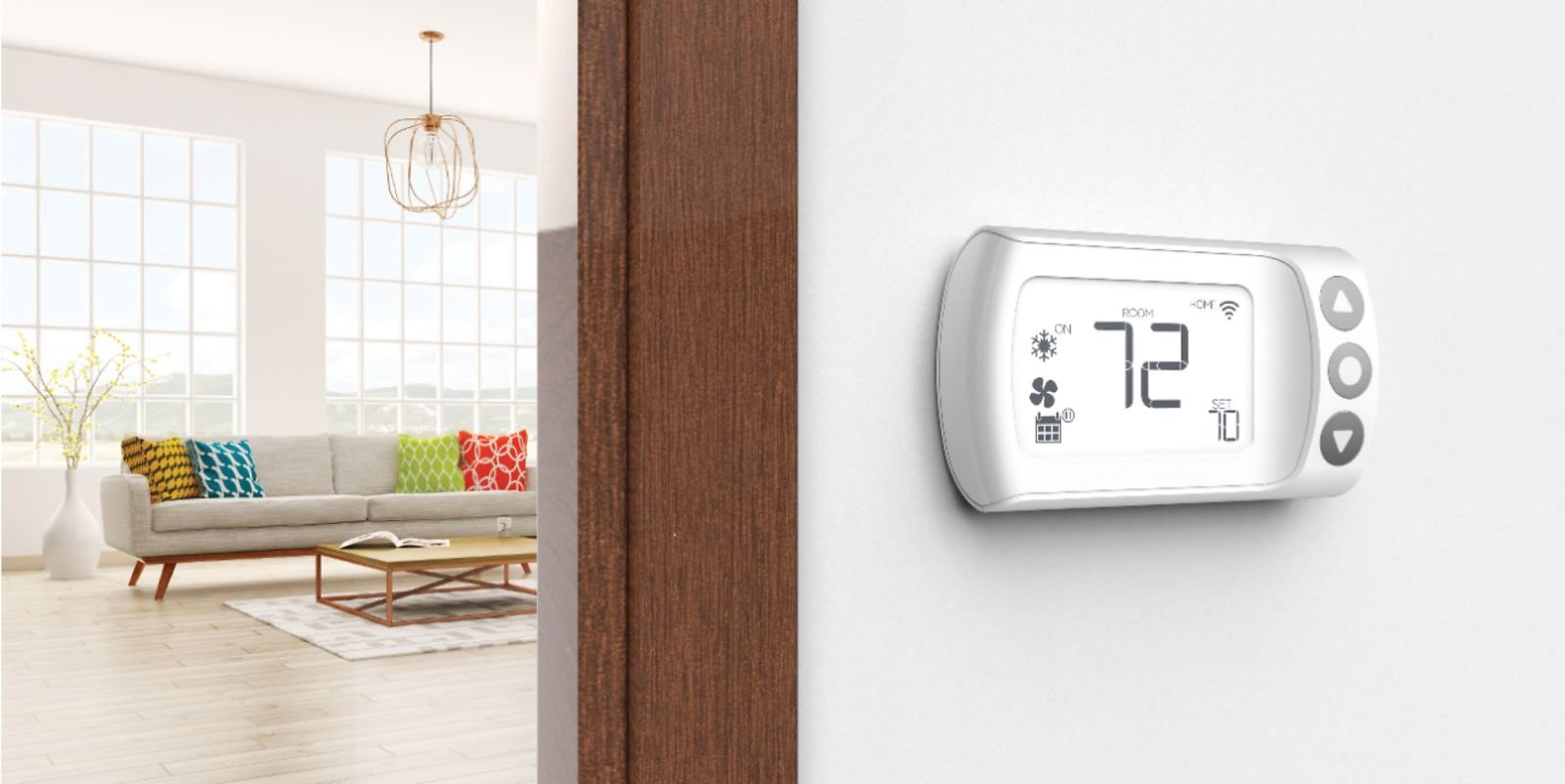 LUX Smart Programmable Wi-Fi Thermostat White CS1-WH1-004