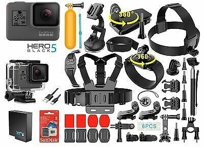 GoPro HERO 5 Black Touch-Screen Sports Camera + 40 PCS Sports Accessory Bundle