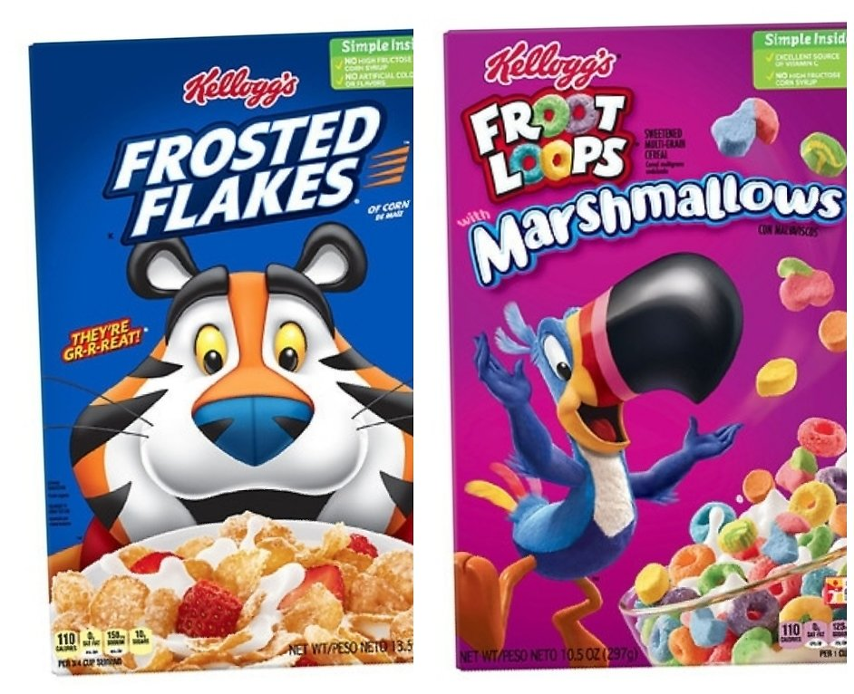 2 for $2.98 Kellogg's Cereal