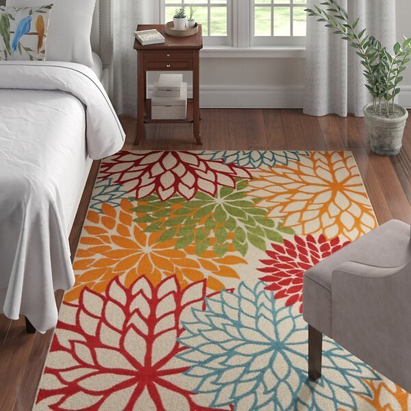 SALE 55% OFF ON Miraloma Floral Multicolor Indoor / Outdoor Area Rug