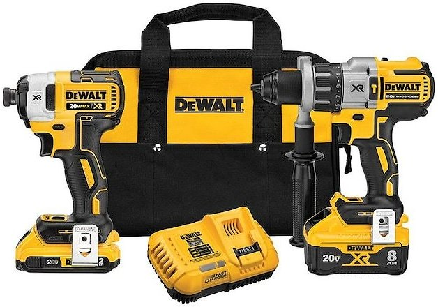 DEWALT Power Detect XR POWER DETECT 2-Tool 20-Volt Max Brushless Power Tool Combo Kit with Soft Case (Charger Included and 2-Batteries Included) Lowes.com