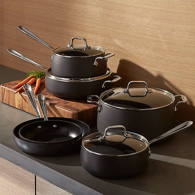 Kitchen Cookware & Bakeware Cookware Sets All-Clad ® HA1 Hard-Anodized Non-Stick10-Piece Cookware