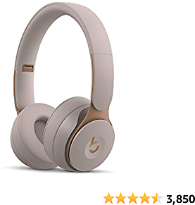 Beats Solo Pro Wireless Noise Cancelling On-Ear Headphones - Apple H1 Headphone Chip, Class 1 Bluetooth, Active Noise Cancelling, Transparency, 22 Hours Of Listening Time - Grey