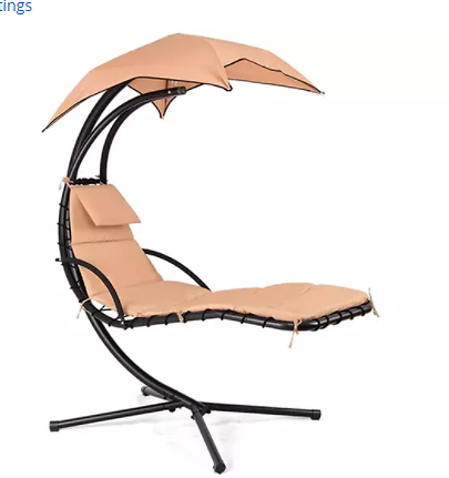 Outdoor Hanging Chaise Lounger Swing