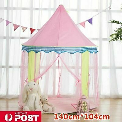 Pink Princess Castle Girl Play Tent Fairy House Children Kids Canopy
