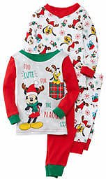 AME Baby Boys Mickey Mouse Christmas Pajama Set