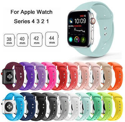 Replacement Silicone Wrist Sport Band Strap For Apple Watch Series 6/5/4/3 40/44
